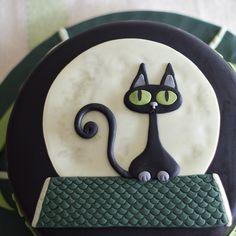 tarta gato negro / black cat cake