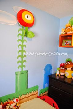 Decorating a Game Room Super Mario Brothers, Super Mario Bros, Nerd Room, Gamer Room, Nursery Themes, Room Themes, Super Mario Nursery, Nintendo Room, Nintendo Decor