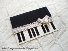 Piano Card... Could do with colored lace too.