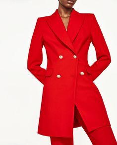 Image 2 of DOUBLE-BREASTED JACKET from Zara