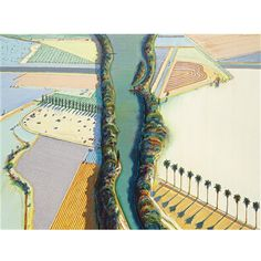 View River and levee by Wayne Thiebaud on artnet. Browse upcoming and past auction lots by Wayne Thiebaud. Paintings I Love, Seascape Paintings, Beautiful Paintings, Landscape Paintings, Wayne Thiebaud, Pop Art Drawing, Art Drawings, Fields In Arts, James Rosenquist