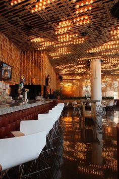 // ceiling lights // Hudson eatery, NY