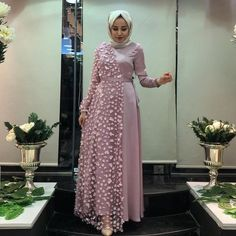 Image may contain: 1 person standing and indoor Source by dresses hijab Hijab Evening Dress, Hijab Dress Party, Hijab Wedding Dresses, Abaya Fashion, Muslim Fashion, Fashion Dresses, Stylish Dresses, Casual Dresses, Estilo Abaya
