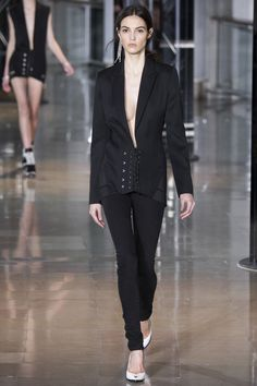 Anthony Vaccarello Fall 2016 Ready-to-Wear Fashion Show - Camille Hurel