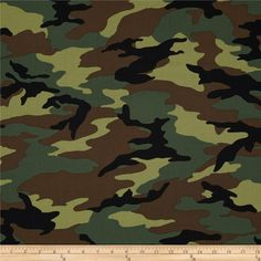 Camo Army Camo Green from @fabricdotcom  Designed by Whistler Studios for Windham Fabrics, this cotton print fabric is perfect for quilting, crafts, apparel and home décor accents. Colors include brown, black and green.