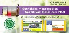 Sertifikat HALAL Nutrishake Oriflame Indonesia. Feel Great Look Great!