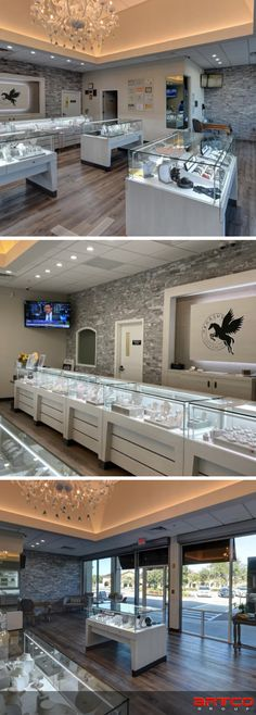 Manufacture & Design of Store Fixtures by Artco Group. Jewelry Store Design, Jewelry Stores, Store Fixtures, Retail Design, Planners, United States, Group, Mansions, House Styles
