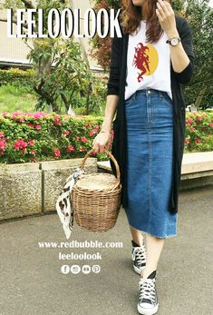 Sneakers outfit summer fashion looks jeans 69 trendy Ideas Casual Summer Outfits, Modest Outfits, Casual Dresses, Summer Clothes, Spring Outfits, Spring Dresses, Dress Outfits, Trendy Fashion, Fashion Looks