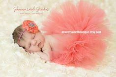 Sweet Coral Breeze Tutu Newborn Tutu Custom by ASweetSweetBoutique, $45.00