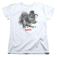 Rubik's Cube - Nerd Squirrel Women's T-Shirt