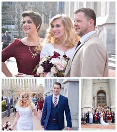 Winter wedding at the Salt Lake Temple on LDS Bride Blog