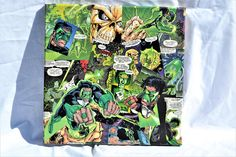 DC Green Lantern comic book covered  12x12 inch collage #greenlantern #dccomics #dcuniverse #comics #whimsicalwerkz #joker #thejoker #batman