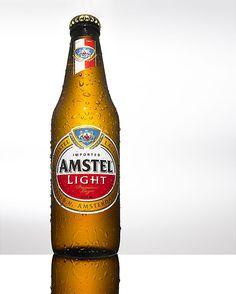 AMSTEL LIGHT BOTTLE Bottle photography by theBEHRENS.nyc #bottleshots #bottlephotography