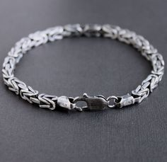 Copy of Men's Heavy Byzantine Chain Bracelet Silver Bracelets, Bracelets For Men, Bangle Bracelets, Bangles, Silver Chain For Men, Sterling Silver Chains, Byzantine, Jewellery, Silver Cuff Bracelets