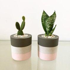 Idea Of Making Plant Pots At Home // Flower Pots From Cement Marbles // Home Decoration Ideas – Top Soop Diy Concrete Planters, Concrete Crafts, Painted Flower Pots, Painted Pots, Pots D'argile, Cement Art, Papercrete, Plant Decor, Diy Design