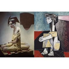 Picasso Paintings Inspired Hallucinatory Photographs by Photographer Eugenio Recuenco found on Polyvore