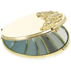 Monsoon Gold Flower Compact Mirror ($16) ❤ liked on Polyvore featuring beauty products, beauty accessories, makeup and beauty