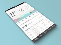 Moodcast Weatherfully Musical UI by Balraj Chana
