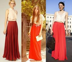 maxi skirt red