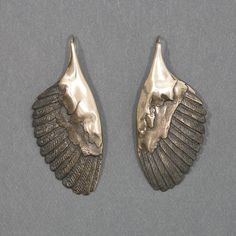 Handcrafted Silver Jewelry, Owl Wing Earrings