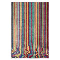 Add a pop of pattern to your living room or den with this artfully crafted rug, showcasing a multicolor stripe motif.  Product: ...