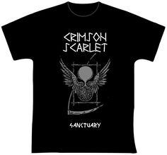 """Crimson Scarlet  R$ 35,00 + frete Todas as cores Personalizamos e estampamos a sua ideia: imagem, frase ou logo preferido. Arte final. Telas sob encomenda. Estampas de/em camisas masculinas e femininas (e outros materiais). Fornecemos as camisas ou estampamos a sua própria. Envie a sua ideia ou escolha uma das """"nossas"""".... Blog: http://knupsilk.blogspot.com.br/ Pagina facebook: https://www.facebook.com/pages/KnupSilk-EstampariaSerigrafia/827832813899935?pnref=lhc https://twitter.com/KnupSilk"""
