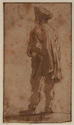 Standing man with a Fur Cap, Rembrandt van Rijn, c. 1633-1635   Museum Boijmans Van Beuningen