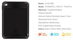 Love Mei Powerful iPad Pro 9.7 inch Protective Case