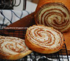 Marble Chocolate Wheel Bread.