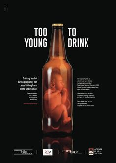 Your baby is too young to drink! Stay alcohol-free during pregnancy.
