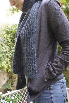 linggan's Scrunchable Scarf by Susan McConne in Mythral #knitting