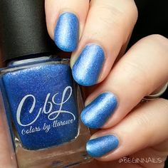 BeginNails: Every Journey Has a Beginning: June 2015 A Box Indied Swatch and Review  Stormy Seas from Colors by Llarowe topped with Gem Glam Top Coat from Dream Polish swatched by @beginnails  http://www.beginnails.blogspot.com/2015/06/june-2015-box-indied-swatch-and-review.html