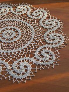 Poppy pattern by Grace Fearon Easter Crochet Patterns, Crochet Motif, Crochet Designs, Crochet Doilies, Crochet Lace, Vintage Crochet, Tablecloth Fabric, Crochet Tablecloth, Easy Knit Baby Blanket