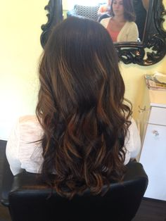 Brunette balayage. My favorite part is that you don't have to mess with your natural roots for this beautiful style!