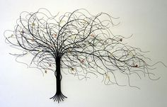 September Tree By Gurtan. Metal Tree Wall Sculpture. American Made. 2013  Buyers Market