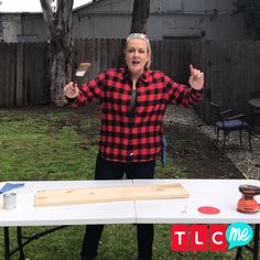 New Trading Spaces carpenter Joanie Sprague gives 5 TIPS to DIY sanding & staining! Watch the return of Trading Spaces on Saturday, April 7 at 8/7c or stream live on the TLC GO app.