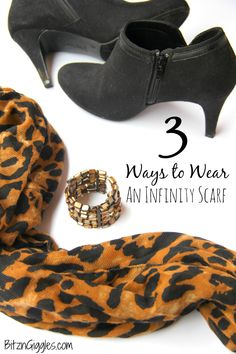 3 Ways to Wear an Infinity Scarf - 3 simple and easy ways to use an infinity scarf to dress up your outfit! #solestyle #Payless #ad