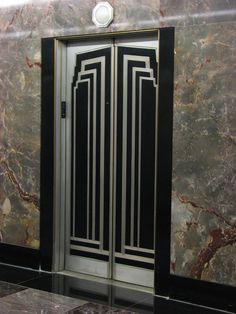 Art Deco elevator doors | Flickr - Photo Sharing!