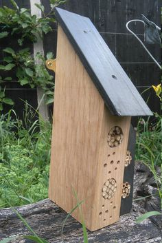 Bee Hotel Insect House by HenBeeGardens on Etsy