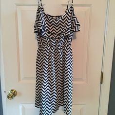 Black & White stripe spaghetti strap Black & White stripe spaghetti strap dress! Zebra like! Dresses