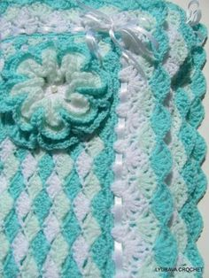 Crochet Baby Blanket Turquoise Sea Shell https://www.craftsy.com/crocheting/projects/projects-crocheting?tags=Baby&selectedProject=519524