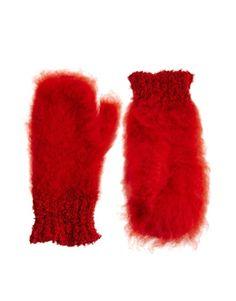 Girls Fluffy Mitten Winter Warm Mitten for Daily Wear-Pink and White QKURT 2pcs Chirdren Christmas Mittens