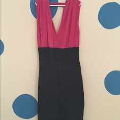 Mini banded dress Cute Pink and Black banded mini dress. Dresses Mini