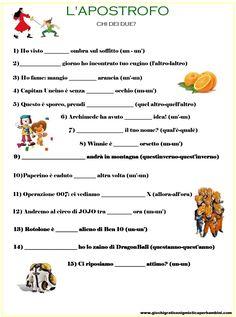 Scheda didattica per bambini sull'accento