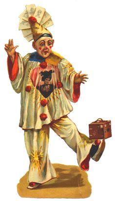 . Circus Crafts, Circus Art, Circus Clown, Circus Theme, Circus Room, Images Vintage, Vintage Art, Pierrot Clown, Vintage Circus Posters