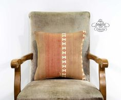 Pastel Embroidered Pillow Nomad Striped by AnatoliaCollection