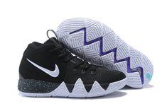 Nike kyrie 4 basketball shoes black white