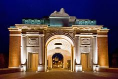 The Menin Gate Memorial to the Missing is a war memorial in Ypres, Belgium dedicated to the commemoration of British and Commonwealth soldiers who were killed in the Ypres Salient of World War I World War One, Being In The World, European Travel, European Trips, Great Places, Places Ive Been, Menin Gate, Ypres Belgium, Belgium Europe