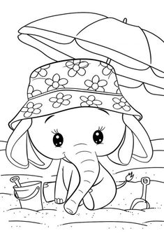 Cuties Coloring Pages for Kids - Free Preschool Printables - Slatkice Bojanke - Cute Animal Coloring Books by BonTon TV Elephant Coloring Page, Dinosaur Coloring Pages, Cute Coloring Pages, Animal Coloring Pages, Coloring Pages To Print, Adult Coloring Pages, Coloring Pages For Kids, Coloring Books, Free Printable Coloring Sheets
