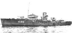HMS Arbutus (i) (K 86) of the Royal Navy - British Corvette of the Flower class - Allied Warships of WWII - uboat.net